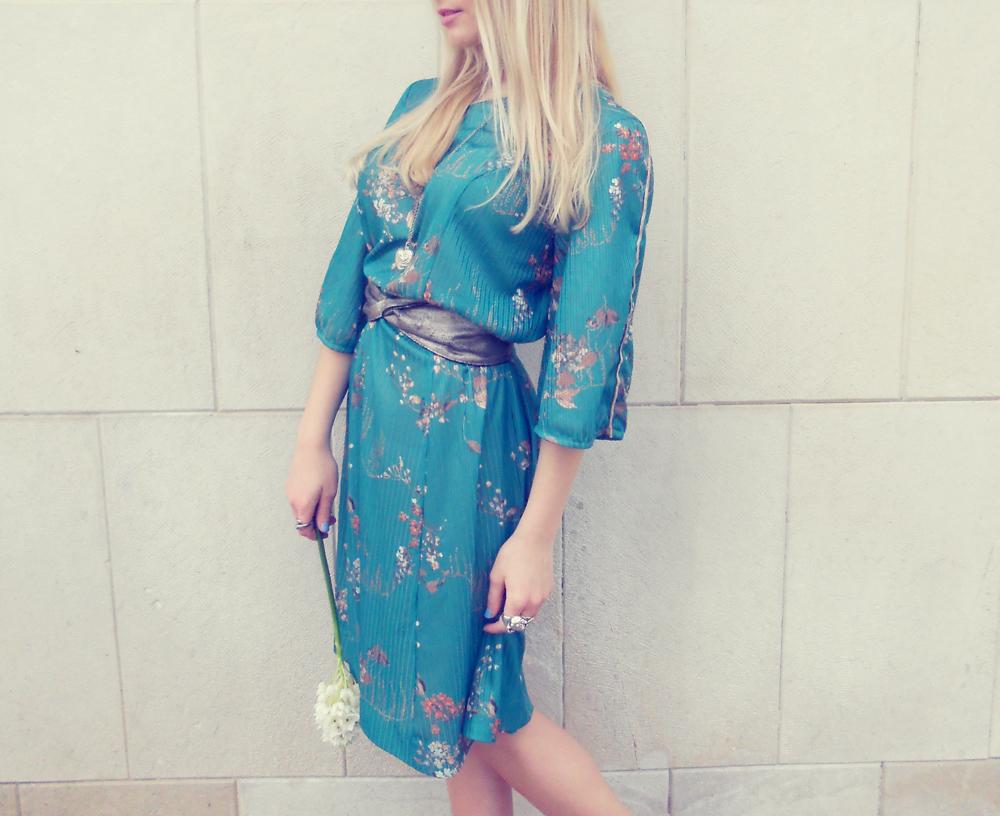 Vintage Kimono Dress/ H&m